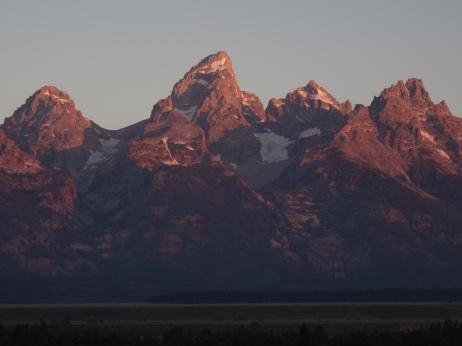 Lever de soleil sur les Tetons